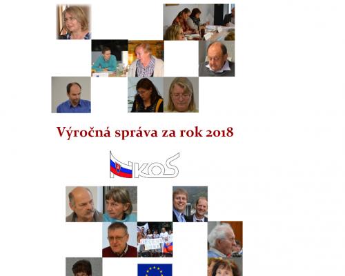 výročná správa 2018 prvá strana